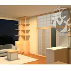 ออกแบบ 3d  ห้อง condo ให้ลูกค้า  style Oriental :  ห้องนั่งเล่น by mayartstyle