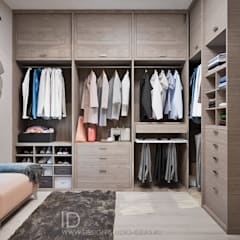 Dressing room by Студия дизайна Interior Design IDEAS