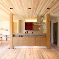 スキップフロアが生み出す贅沢空間の家: AD-HOUSE/株式会社大喜建設が手掛けたキッチンです。