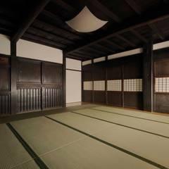座敷: 株式会社ラウムアソシエイツ一級建築士事務所が手掛けた和室です。