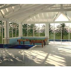 Ampliación Playroom en Saint Thomas: Salas multimedia de estilo  por DZ NZ Arquitectos