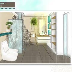 Perspective 3D: Salle de bains de style  par DESIGN KREATION