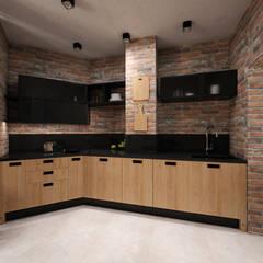 Cocinas de estilo industrial por GraniStudio