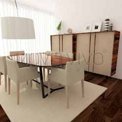 Cosy Dining Room:  Dining room by Movelvivo Interiores