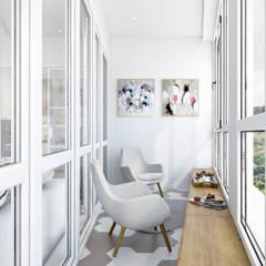Terrace by Студия архитектуры и дизайна Дарьи Ельниковой