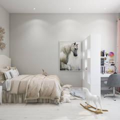Квартира 110 кв.м. в скандинавском стиле в ЖК «V-House»: Детские комнаты в . Автор – Студия архитектуры и дизайна Дарьи Ельниковой