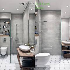 Таунхаус 110 кв.м. в неоклассическом стиле в поселке Кембридж: Ванные комнаты в . Автор – Студия архитектуры и дизайна Дарьи Ельниковой