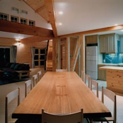 ダイニングテーブル: 株式会社ラウムアソシエイツ一級建築士事務所が手掛けたダイニングです。