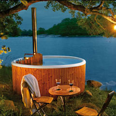 Skargards Panel - The traditional Hot Tub from Sweden Scandinavian style pool by Skargards Hot Tubs UK Scandinavian