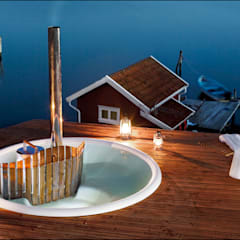 Skargards Terrass - The built-in hot tub Scandinavian style pool by Skargards Hot Tubs UK Scandinavian