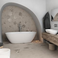 mediterranean Bathroom by DMC Real Render