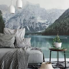 Forest Bathing Scandinavian style bedroom by Pixers Scandinavian