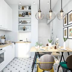 Cocinas de estilo  por Студия архитектуры и дизайна Дарьи Ельниковой