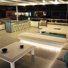 Casa de Playa NB: Terrazas de estilo  por DMS Arquitectas