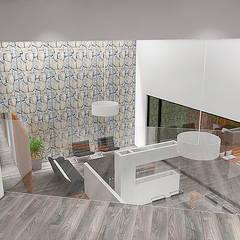 Casa Bravo - Vega: Pasillos y hall de entrada de estilo  por Smartlive Studio