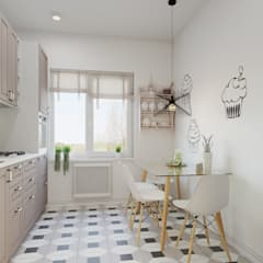 scandinavian Kitchen by ДОМ СОЛНЦА