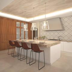 Casa Biscotti: Cocinas de estilo  de Hdl Studio