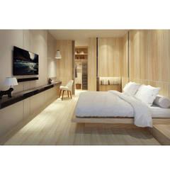 V's House Scandinavian style bedroom by studioalo Scandinavian