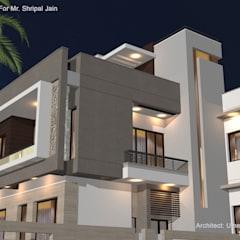 Residence For Mr. Shripal Jain:  Bungalows by umesh prajapati designs
