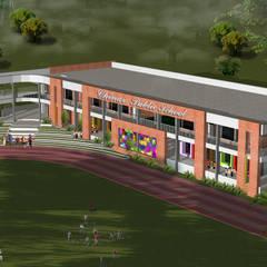 Chinar Public School:  Houses by umesh prajapati designs