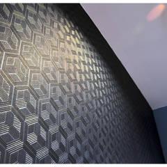 DOM JEDNORODZINNY_Lębork, Polska: styl , w kategorii Ściany zaprojektowany przez PUFF