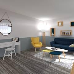 Homestaging 3d: Salon de style de style Scandinave par LSAI