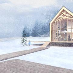 DOM JEDNORODZINNY na wsi: styl eklektyczne, w kategorii Domy zaprojektowany przez PUFF