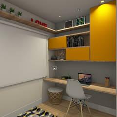 Projeto de Interiores Condomínio Talipo : Escritórios  por Espaco AU