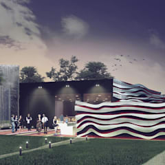 Salón de Eventos: Salas de eventos de estilo  por PEI arquitectura