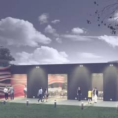 Salón de Eventos: Salas de eventos de estilo  por PEI arquitectura,Moderno