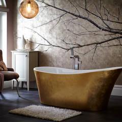 Holywell metallic effect acrylic bath:  Bathroom by Heritage Bathrooms
