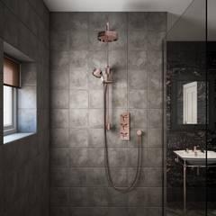 Hemsby shower in rose gold:  Bathroom by Heritage Bathrooms