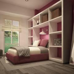 Diseño de interiores: Recámaras de estilo  por Zono Interieur