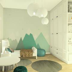 Ciepły przytulny pokój dziecięcy: styl , w kategorii Pokój dziecięcy zaprojektowany przez Esteti Design