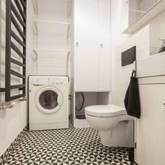 Mieszkanie na Osiedlu Zory: styl , w kategorii Łazienka zaprojektowany przez ABU Wnętrza