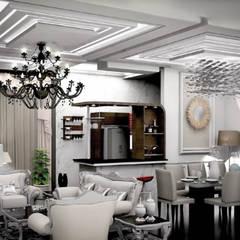 Interior works: Ruang Keluarga oleh Axis Citra Pama, Klasik