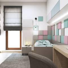 Projekt mieszkania w klimacie skandynawskim w województwie podlaskim: styl , w kategorii Pokój dziecięcy zaprojektowany przez MONOstudio
