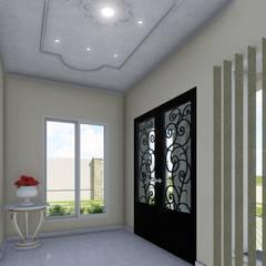 Vivienda Francesa Contemporanea: Pasillos y recibidores de estilo  por ARBOL Arquitectos ,Clásico