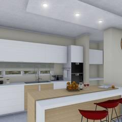 Vivienda Francesa Contemporanea: Cocinas de estilo  por ARBOL Arquitectos