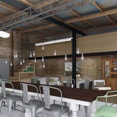Quincho Loft Industrial: Comedores de estilo  por ARBOL Arquitectos