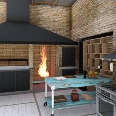 Quincho Loft Industrial: Cocinas de estilo  por ARBOL Arquitectos ,Rústico