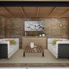 Quincho Loft Industrial: Livings de estilo  por ARBOL Arquitectos