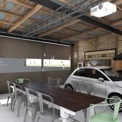 Quincho Loft Industrial Comedores rústicos de ARBOL Arquitectos Rústico