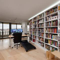 Contemporary Washington, DC Condominium Renovation:  Study/office by BOWA - Design Build Experts