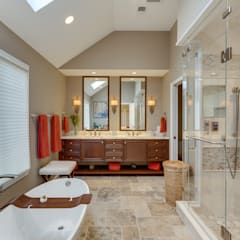 Universal Design Master Suite Renovation in McLean, VA:  Bathroom by BOWA - Design Build Experts, Minimalist
