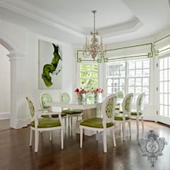 Dining Room:  Dining room by Kellie Burke Interiors