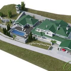 Дом в Сочи в американском стиле: Дома в . Автор – Компания архитекторов Латышевых 'Мечты сбываются'