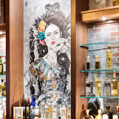 Bar Mural:  Bars & clubs by Kellie Burke Interiors