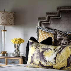 Guest Room:  Bedroom by Kellie Burke Interiors