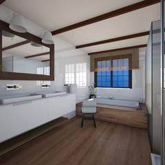 Loft: Baños de estilo  de Abaco Decoración